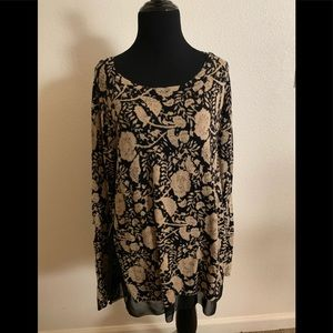 Lucky Brand Gorgeous Floral long sleeve size large